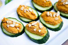 Carrot Cashew Pate Cucumber Canapé #vegan #glutenfree | Keepin' It Kind
