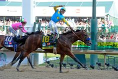Caption:  American Pharaoh with Victor Espinoza wins the Kentucky Derby (gr. I)  on May 2, 2015, in Louisville, Ky.,.. Derby1  image691 Photo by Anne M. Eberhardt