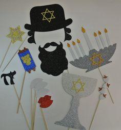 Jewish Photo Booth Props Mazal Tov Chai by weddingphotobooth