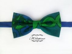 Men's printed bow tie  colour block abstract by KristineBridal, $39.99