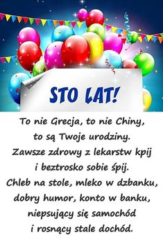 Znalezione obrazy dla zapytania życzenia urodzinowe Birthday Quotes, Birthday Wishes, Free Happy Birthday Cards, Special Quotes, Great Words, Man Humor, Motto, The Funny, Favorite Quotes