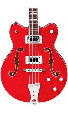 Gretsch G5442BDC Electromatic Hollow Body Short Scale Bass Guitar - Transparent Red Best Price