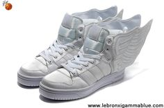 the latest 62bc4 4cfd7 Latest Listing Discount Adidas X Jeremy Scott Wings 2.0 Shoes All White  Fashion Shoes Store Zapatillas