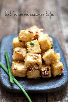 Hot 'n Sweet Sesame Tofu