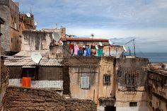 """The roofs of the Algiers """"Casbah"""" Algiers city(الجزائر), Algeria, North Africa.Vue des toits de la Casbah d'Alger"""