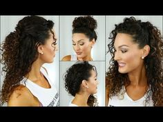 EASY Back to School Curly Hairstyles - YouTube