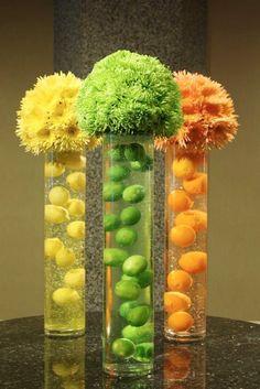 Citrus Wedding table display