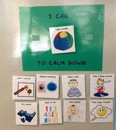 Calm down choice board