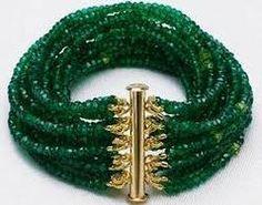 Emerald Panna Bead Bracelet