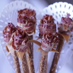 Nothing says romance quite like our Bacon Caramel Pretzel Rose Bouquet