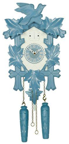 Cuckoo Clock Quartz-movement Modern-Art-Style 35cm by Trenkle Uhren