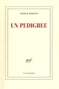 'Un Pedigree' de Patrick Modiano