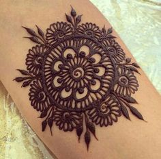 Always the best henna flower designs - Henna Mandala - Henna Designs Hand Henna Flower Designs, Modern Mehndi Designs, Mehndi Design Images, Henna Designs Easy, Flower Henna, Beautiful Henna Designs, Henna Tattoo Designs, Flower Art, Mehendi