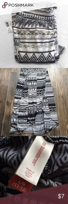 Boho Skirt Black grey and tan boho tribal maxi skirt - brand new with tags -never been worn - size large No Boundaries Skirts High Low