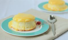 Creamsicle Pudding Cakes- DessertForTwo.com