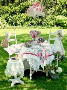 Afternoon tea in the garden...
