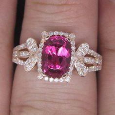 Obedient Solid 14k White Gold Genuine 3.21ct Natural Blood Ruby Engagement Diamond Ring Engagement & Wedding
