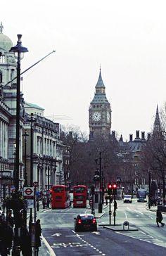 Winter in London, England, U.K