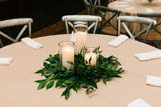 We LOVE alternating centerpieces! Having candle groupings on tables, with floral arrangements on other tables make for a very beautiful reception. Photo by: Smash Studios Photography