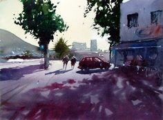 Guatiza lanzarote by Tim Wilmot (watercolor)