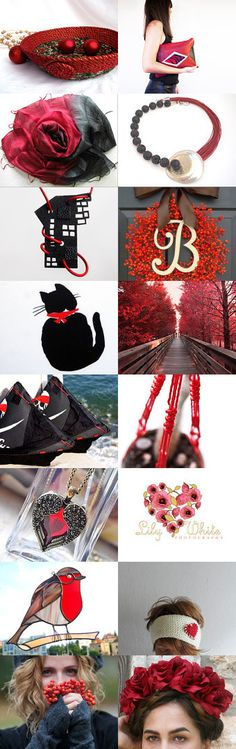 Dancing with Black and Red by Anna Margaritou on Etsy-- #Etsy #treasury #red #Christmas #bowl #basket #trendy Pinned with TreasuryPin.com