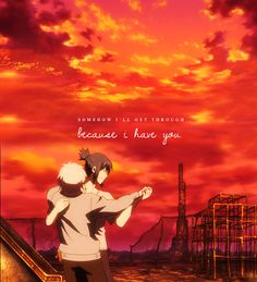 "No. 6 ~~ ""Somehow I'll get through, because I have you."" :: Nezumi X Shion"