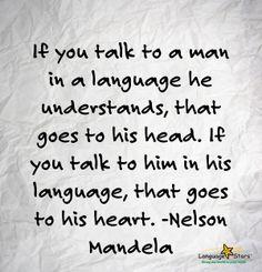 foreign language inspiration, Nelson Mandela, Language Stars