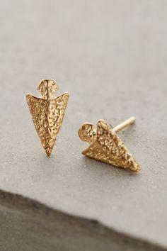 Hammered Arrowhead Earrings