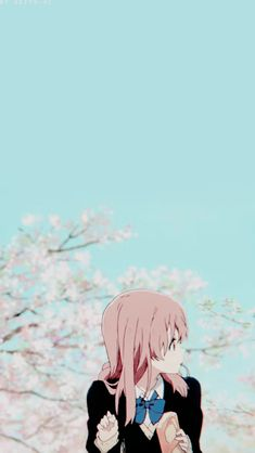Shoko- a silent voice Anime Guys, Manga Anime, Anime Art, Anime Films, Anime Characters, Animes Wallpapers, Cute Wallpapers, Koe No Katachi Anime, A Silent Voice Anime