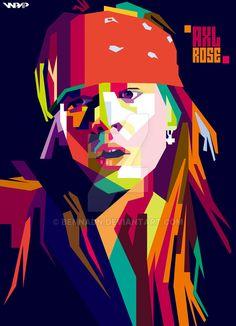 Guns n Roses axl rose Pop Art Poster, Rock Poster, Illustration Pop Art, Portrait Illustration, Guns N Roses, Pop Art Portraits, Axl Rose, Concert Posters, Art Music