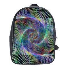 Psychedelic Spiral School Bag (Large)