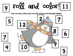 Classroom Freebies: Happy New Year - Winter Roll and Color
