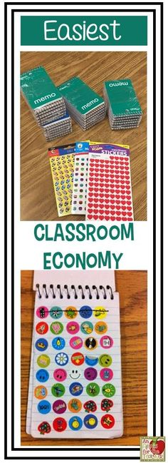 Super easy classroom economy using stickers