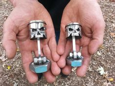 Skull Pistons from Morgan's Garage