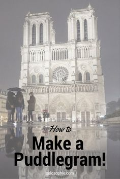 how to make a puddlegram