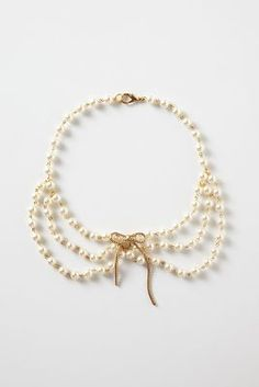 Anthropologie Diana Pearl Collar Necklace