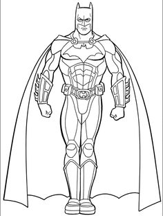 Batman Pictures Coloring Pages