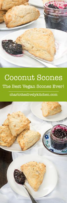 Switching to using coconut oil and coconut milk creates vegan scones that are easy to make and every bit as good as the original afternoon tea classic. (desserts to make coconut milk) Vegan Sweets, Vegan Desserts, Vegan Teas, Vegan Scones, Healthy Afternoon Snacks, Vegan Afternoon Tea, Vegetarian Recipes, Cooking Recipes, Vegan Dishes