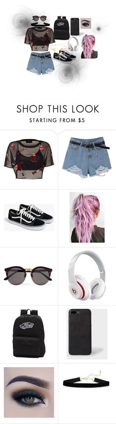 """airport fashion with yugyeom [got7]"" by miyazaki10 on Polyvore featuring J.Crew, Illesteva, Beats by Dr. Dre, Vans, Too Faced Cosmetics and Lord & Taylor"