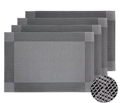 Deconovo Classic Woven Vinyl Placemats for Kitchen 4 Pcs DECONOVO woven placemat are most prefect and easy way to upgrade yours kitchen decor and kitchen set. These vinyl placemats are made of high gr...