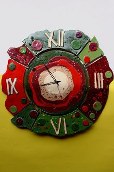 slavkaleon HODINY OLIVY A VINO Clock Art, Diy Clock, Paper Bowls, Auction Projects, Ceramic Wall Art, Pottery Studio, Paper Clay, Diy Art, Crafts