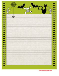 on this page i am sharing free printable halloween writing paper i have made some really scary halloween writing paper printable and also some very cute - Printable Halloween Writing Paper