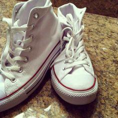 #White Converse High Tops