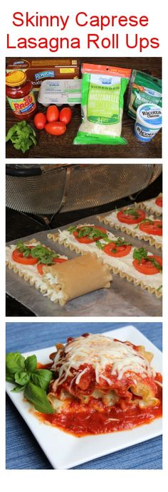 Skinny Caprese Lasagna Roll Ups! Nutritious, simple, affordable, delicious and perfectly portioned if you are trying to lose weight! #healthyrecipes #client
