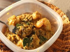 Curried Quinoa with shrimp