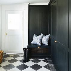 Habitually Chic®  » The Ultimate Quarantine Kitchen Beauty Salon Interior, Dressing, Painted Floors, Kids Furniture, Furniture Design, Victorian Homes, Soft Furnishings, Country Life, Mudroom