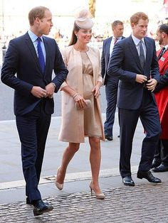 The gang's all here! Prince William, Kate and Prince Harry get all dressed up for a service to celebrate the 60th anniversary of Queen Elizabeth's coronation at London's Westminster Abbey.  http://www.people.com/people/gallery/0,,20705786,00.html#21341150