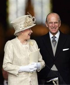 The Queen and Prince Philip smile!