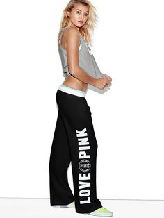 Stay comfy this spring with Pink's everyday lounge collection. Only at PINK. Victoria Secret Outfits, Victoria Secret Pink, Victoria Secret Sweatpants, Lazy Day Outfits, Cute Outfits, Boyfriend Sweatpants, Revolution, Loungewear Outfits, Pink Nation