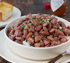 Red beans & rice, mmmm.